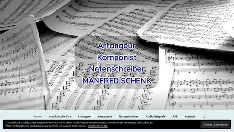 Vorschaubild der Homepage von Ich erstelle individuell und passgenau: Noten-Arrangements, Kompositionen und Notationen in vielfältiger Art. Für Hobbymusiker, Profis, Musikverlage und mehr. Über 40 Jahre Erfahrung.