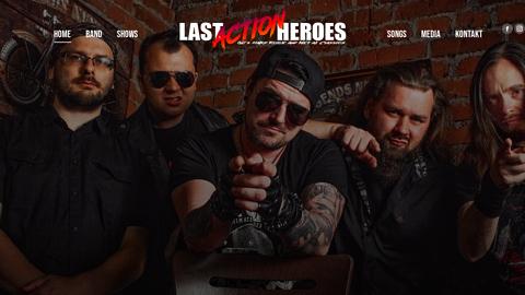 """Vorschaubild der Homepage von Die LAST ACTION HEROES aus Leipzig wurden 2017 mit dem Ziel gegründet, den Spirit des 80er Rock & Metals auf die Stages dieser Welt zu bringen. Jedes der Bandmitglieder blickt dabei auf zahlreiche Jahre an Erfahrung in anderen Bands zurück, teilweise mit Albenproduktionen & Tournee.   Während des Sets lässt es sich mit """"devil horns up in the air & raised fists"""" zu Songs von u.A. Iron Maiden, Guns 'n' Roses, Mötley Crüe, Judas Priest, W.A.S.P., Motörhead, Skid Row, AC/DC, Twisted Sister uvm. abfeiern.   ➡️Es wird laut, dreckig & wild. Time to rock 'n' fuckin' roll!  🤘"""