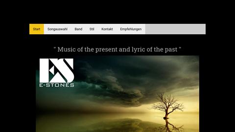 Vorschaubild der Homepage von Progressive Rockmusik mit Lyrik der alten Meister ( Goethe, Heine, Poe, usw. ) Info: http://www.e-stones.jimdo.com
